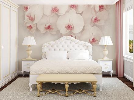 фотообои 3д орхидея белая